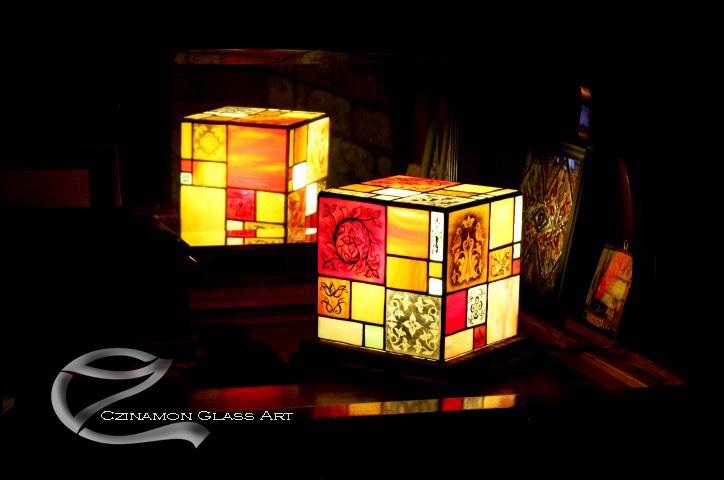 Festett modern tiffany lámpa, tiffany lámpa készítés.