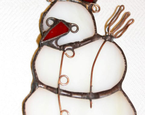 Kedvezményes Vásárlás, hóember tiffany-ablakdisz