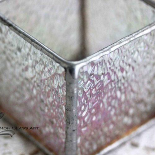 Tiffany üveg mécsestartó