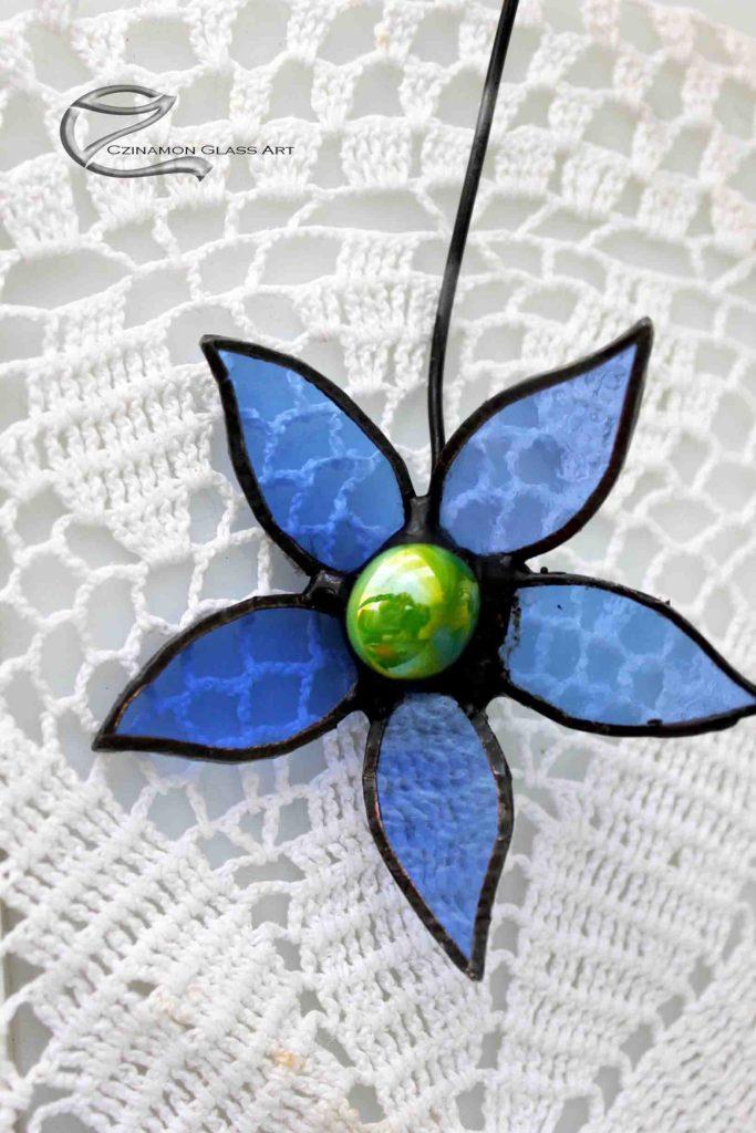 Kék tiffany virág forrasztása